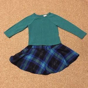 Sweater and plaid skirt set